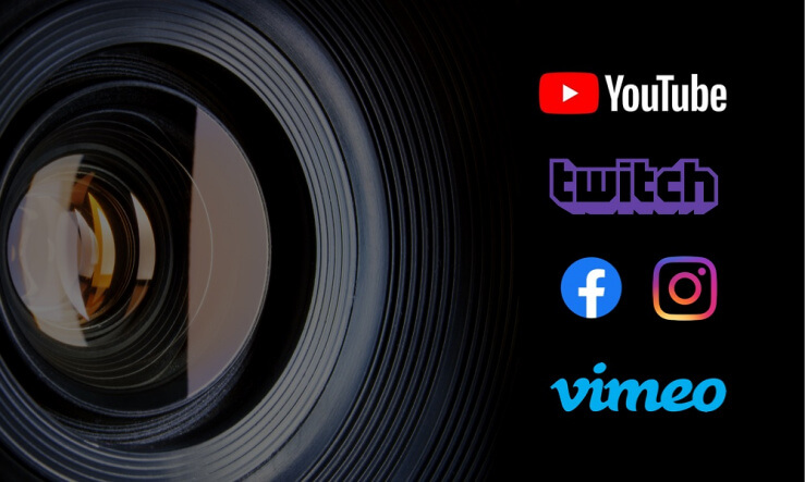 Eventfrog Live Services - Streaming Anbieter - YouTube - Twitch - Facebook - Instagram - Vimeo
